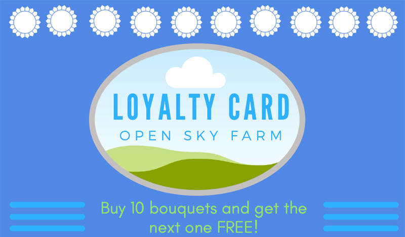 Open Sky Farm Flowers Loyalty Card